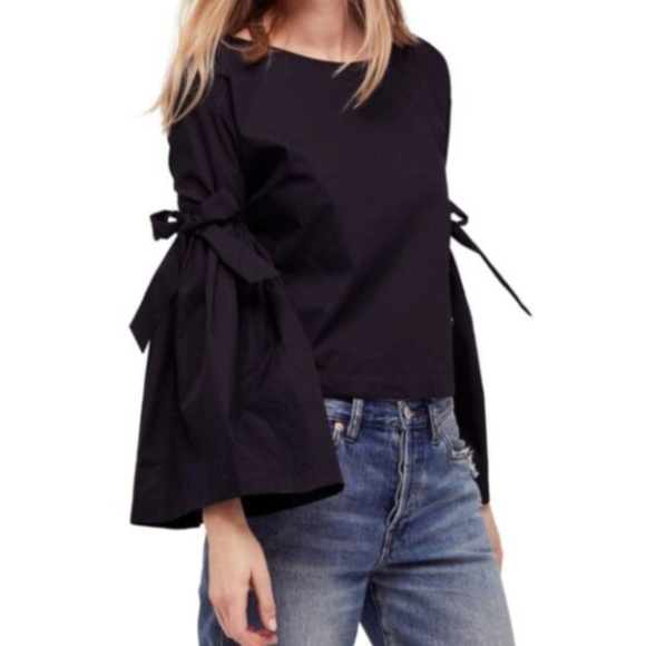 Free People Tops - Free People Black So Obviously Yours Blouse